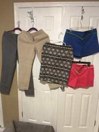 All size 6  two pairs of shorts two pairs of ankle pants one skirt all for 20.00 , some new , all in new like condition Harpers Ferry, 25425
