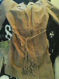 Suede jacket beautiful tan coloured suede fulength Hamilton, L8K 5S6