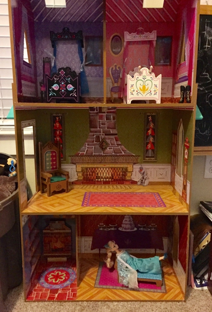 red and brown wooden dollhouse for sale  Lubbock