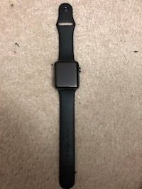 space black aluminum case Apple Watch with black sports band Manassas, 20111