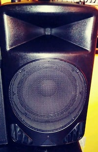black and gray subwoofer speaker Brampton, L6V
