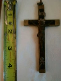 Very old rare crucifix with skull and crossbones Portsmouth, 23704