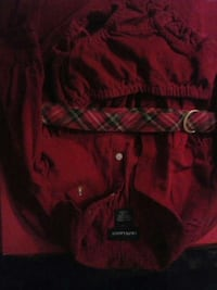 Button up red corduroy Ralph Lauren dress Afton
