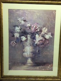 White and blue flower painting make offer   Hamilton, L0R 1P0