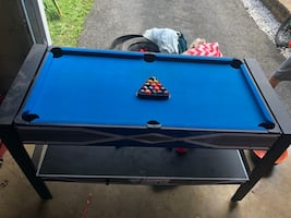 Kids pool table, ping pong and air hockey