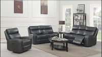 black leather sectional sofa with coffee table Brampton, L6P 3E6
