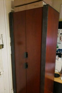 Wooden closet (real wood and metal)