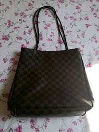 Tote bag in pelle Louis Vuitton nera e marrone Lurate Caccivio, 22075