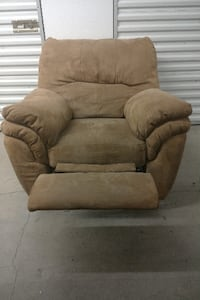 Rocker Recliner Microfiber Suede (light brown) Bethany