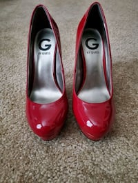 Size 6.5 Guess Red Heels Mobile, 36695
