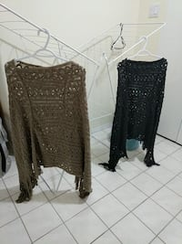 2 knitted shawls