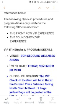 Chris Young VIP ticket Greer, 29651