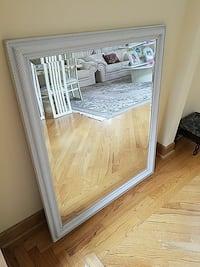 White multi-functional wall mirror Des Plaines, 60018