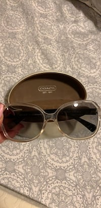 Black and clear Coach sunglasses with case Kaysville, 84037