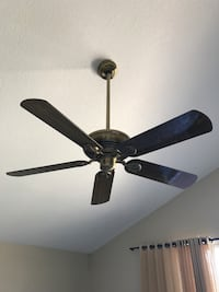 Black 5-blade ceiling fan Carlsbad, 92011