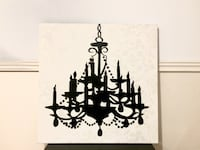 Beautiful trendy painting black and white Montréal, H4J 1Z7