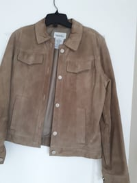 Brown suede button-up jacket Whitby, L1R 3C2