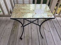 Glass Mosaic top table with metal base Spring Grove, 17362
