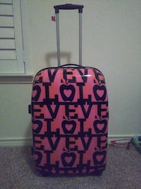 pink and black love hard case luggage Allen, 75013