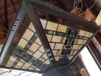 Very nice stained glass Mission style floor lamp Bangor, 18013