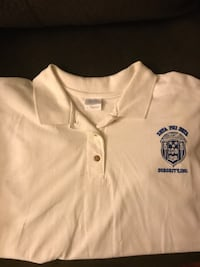 White crew-neck shirt $4 Baltimore, 21215