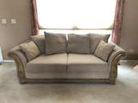gray fabric 2-seat sofa Schaumburg, 60193