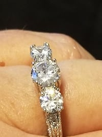 14K White Gold and CZ Ring Sizes 8,9 Fort Worth, 76116