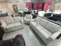 gray leather sofa set with throw pillows Brampton, L6T 1A2