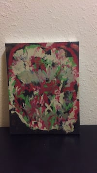 green, red, and yellow abstract painting Burbank, 91504