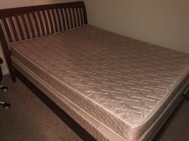 Full size bed with frame