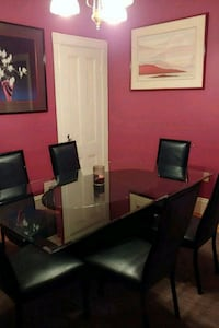 Glass dinning room table and 6 chairs Malden, 02148