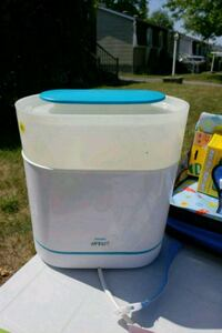white and blue plastic container Laval
