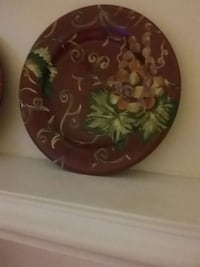 brown and green floral ceramic plate Virginia Beach, 23453