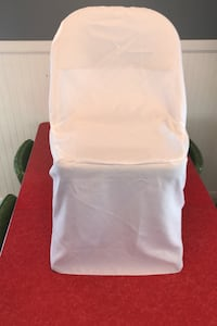Wedding, White, 90 chair covers & 7 rectangle table cloths Blaine, 55434