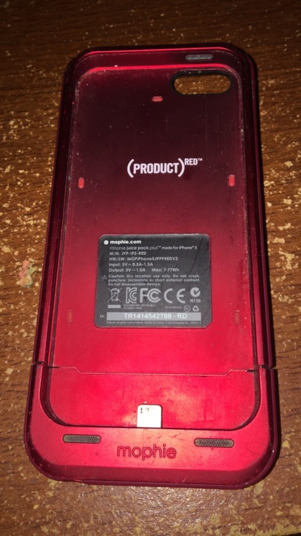 newest 2ac19 d7b7a Red mophie charging case