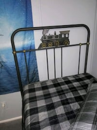 Twin Size Bed Frame with a Train