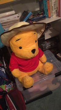 yellow and red bear plush toy 20 km