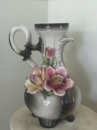 White and pink floral ceramic pitcher Woodbridge, 22192