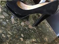 Ladies high heel platform wedge shoes never worn size 10 leather upper suede soft inside  Richmond Hill, L4E 4S4