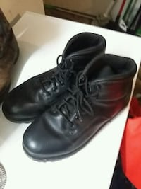 pair of black leather work boots College Station, 77840
