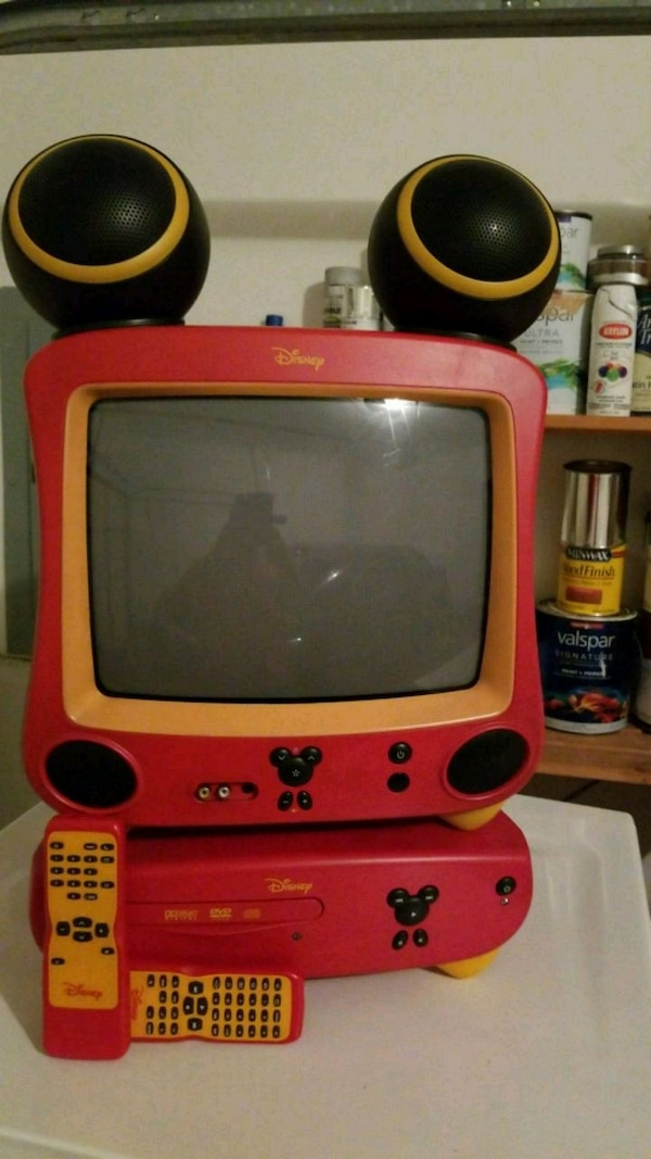 Disney TV and DVd player with remote