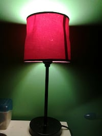 black and red table lamp Sumter, 29153