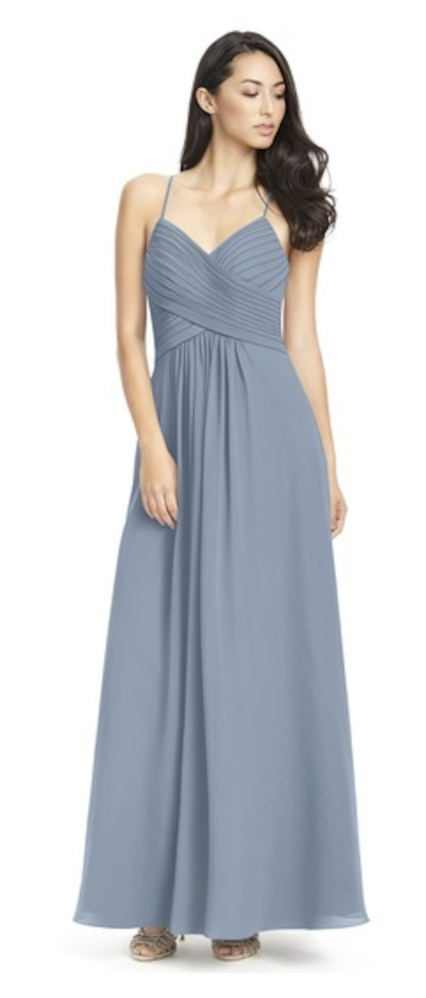 93120e8f065 Used Azazie Bridesmaid Dress Haleigh Dusty Blue for sale in Richardson