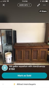 100 gallon aquarium with stand and canopy 2212 mi