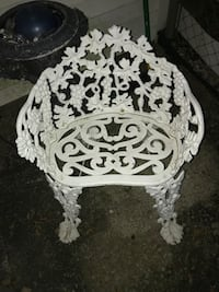 Vintage antique cast iron chair Washington, 20024