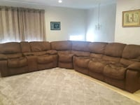 brown suede 3-seat sofa Alexandria, 22306