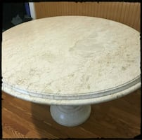 Solid Marble Round Top Table / Italian Marble Dining Table