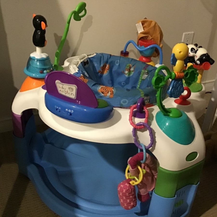 Baby exersaucer, baby imprint kit, baby pull up walking toy