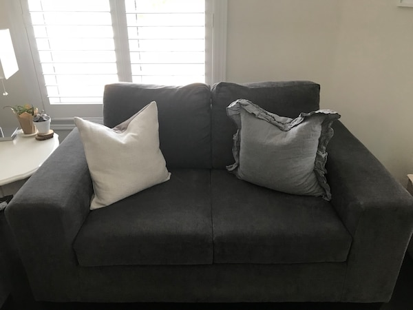 Admirable Grey Leons Fava Couch Loveseat Two Seater Couch Gmtry Best Dining Table And Chair Ideas Images Gmtryco