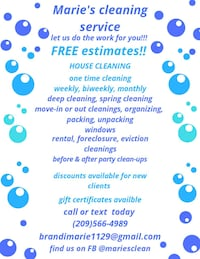 House cleaning Modesto, 95350